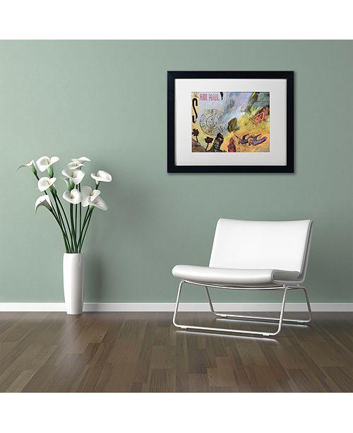 "Trademark Global Nick Bantock 'Air Mail' Matted Framed Art, 16"" x 20"""