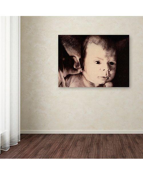 "Trademark Global Nick Bantock 'And What' Canvas Art, 14"" x 19"""