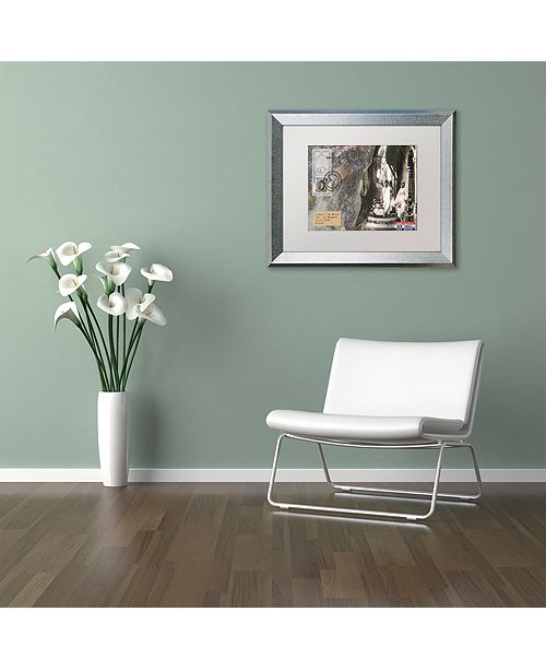 "Trademark Global Nick Bantock 'Arab Stairs' Matted Framed Art, 16"" x 20"""