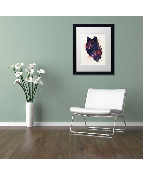"""Trademark Global Robert Farkas 'Universal Wolf' Matted Framed Art, 11"""" x 14"""""""