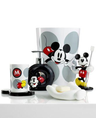 disney bath accessories, disney mickey mouse collection  bathroom,