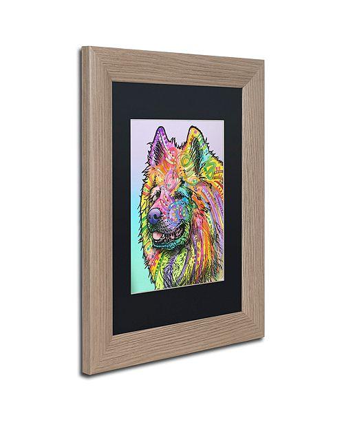 """Trademark Global Dean Russo 'Samoyed' Matted Framed Art, 11"""" x 14"""""""