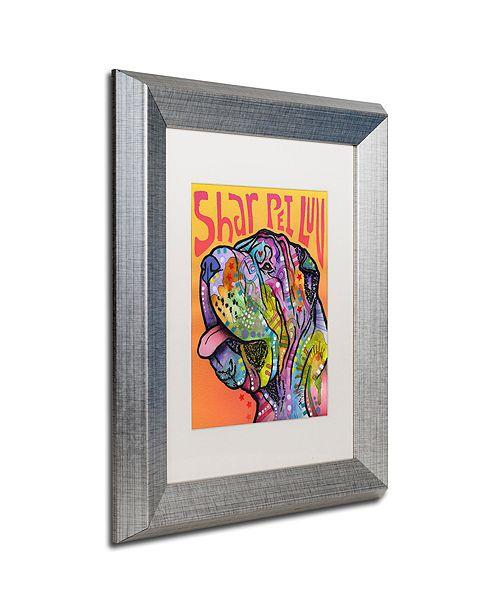 """Trademark Global Dean Russo 'Shar Pei Love' Matted Framed Art, 11"""" x 14"""""""