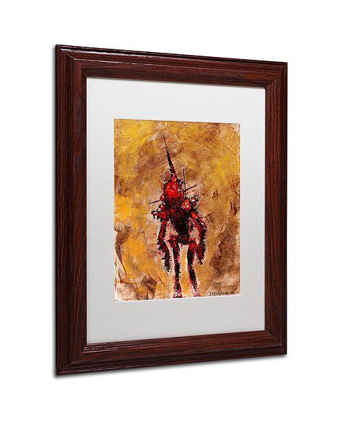"""Trademark Global Craig Snodgrass 'Disconnect Red' Matted Framed Art, 11"""" x 14"""""""