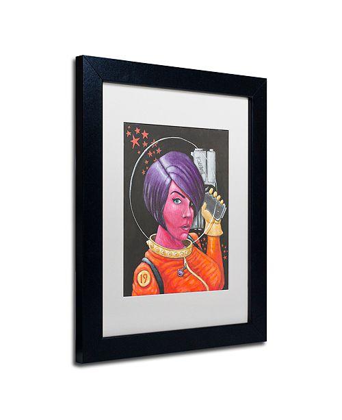 "Trademark Global Craig Snodgrass 'Josie-Jupiter' Matted Framed Art, 11"" x 14"""