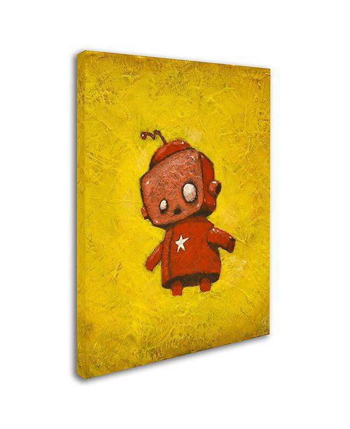 """Trademark Global Craig Snodgrass 'Red Robot Star' Canvas Art, 18"""" x 24"""""""