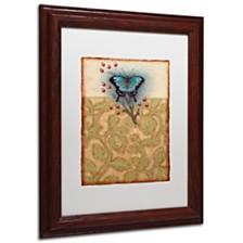 """Rachel Paxton 'Salt Meadow Butterfly' Matted Framed Art, 11"""" x 14"""""""