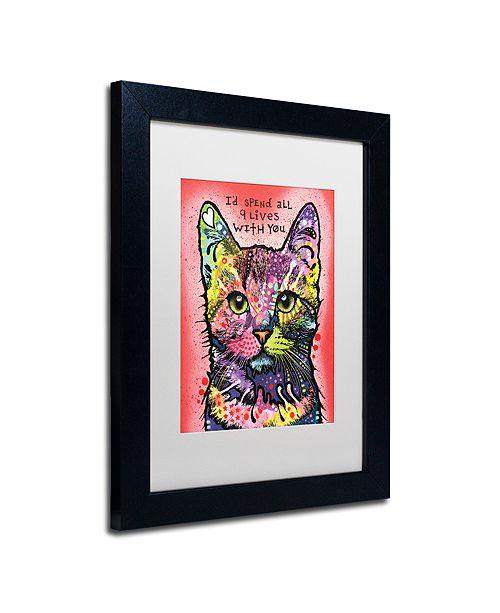 "Trademark Global Dean Russo '9 Lives' Matted Framed Art, 11"" x 14"""