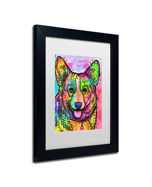 "Trademark Global Dean Russo 'Corgi II' Matted Framed Art, 11"" x 14"""