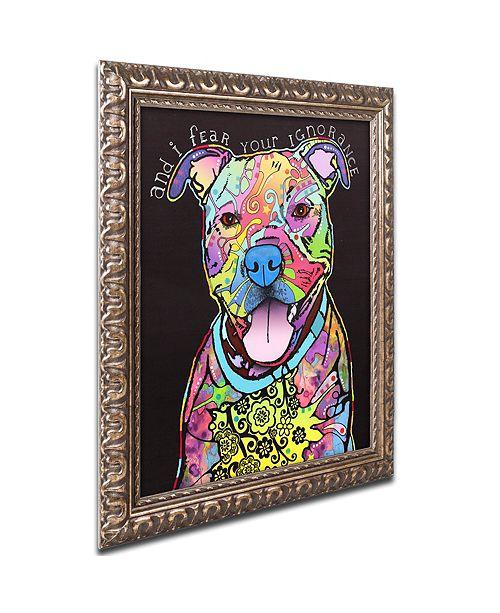 "Trademark Global Dean Russo 'I Fear' Ornate Framed Art, 11"" x 14"""
