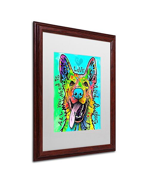 """Trademark Global Dean Russo 'Love And A Dog' Matted Framed Art, 16"""" x 20"""""""