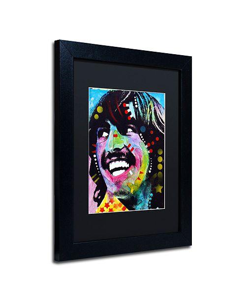 "Trademark Global Dean Russo 'George Harrison' Matted Framed Art, 11"" x 14"""