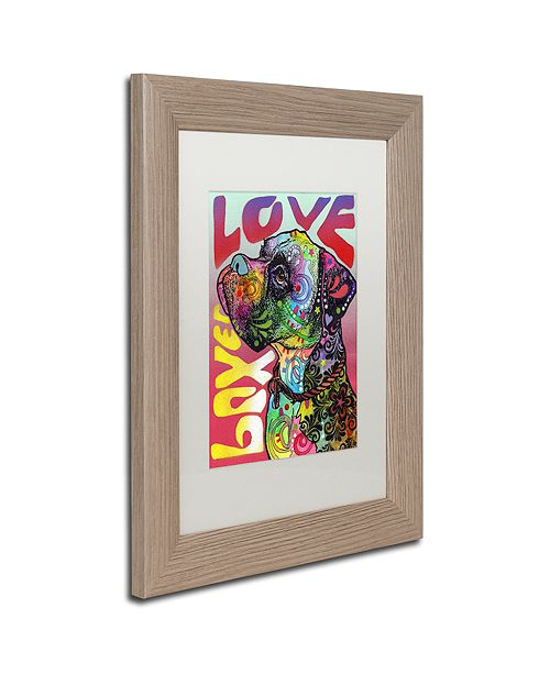 """Trademark Global Dean Russo 'Boxer Luv' Matted Framed Art, 11"""" x 14"""""""