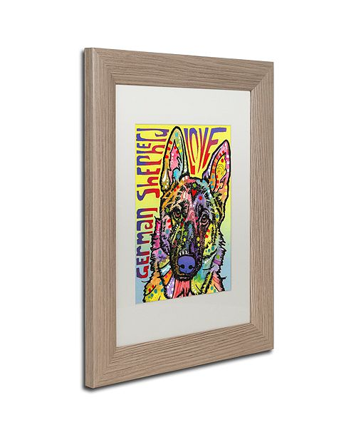 "Trademark Global Dean Russo 'German Shepherd Luv' Matted Framed Art, 11"" x 14"""