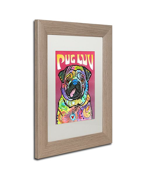 "Trademark Global Dean Russo 'Pug Luv' Matted Framed Art, 11"" x 14"""
