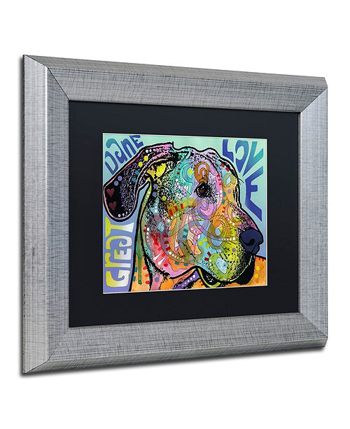 "Trademark Global Dean Russo 'Great Dane Luv' Matted Framed Art, 11"" x 14"""