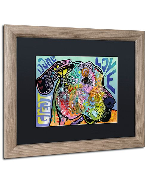 "Trademark Global Dean Russo 'Great Dane Luv' Matted Framed Art, 16"" x 20"""