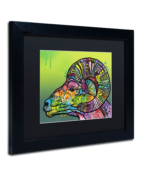 """Trademark Global Dean Russo 'Ram' Matted Framed Art, 11"""" x 14"""""""