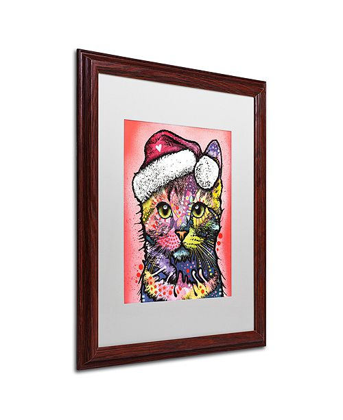 "Trademark Global Dean Russo 'Christmas Cat' Matted Framed Art, 16"" x 20"""