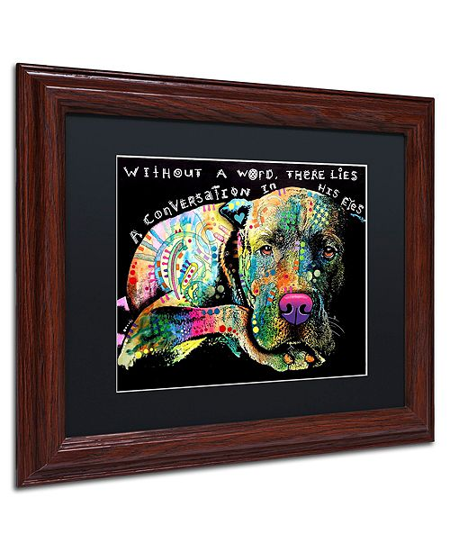 "Trademark Global Dean Russo 'Without a Word' Matted Framed Art, 11"" x 14"""