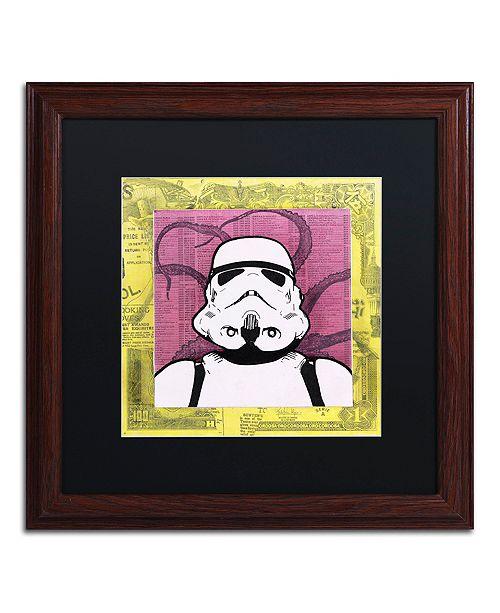 """Trademark Global Dean Russo 'Stormtrooper' Matted Framed Art - 16"""" x 16"""""""