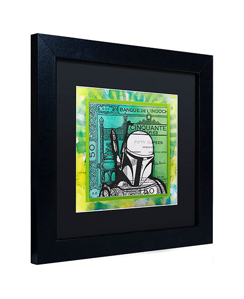 "Trademark Global Dean Russo 'Boba Fett' Matted Framed Art, 11"" x 11"""