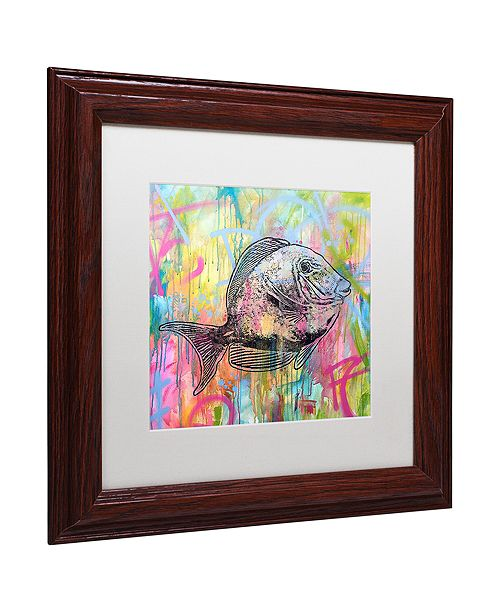 "Trademark Global Dean Russo 'Blue Tang' Matted Framed Art, 11"" x 11"""