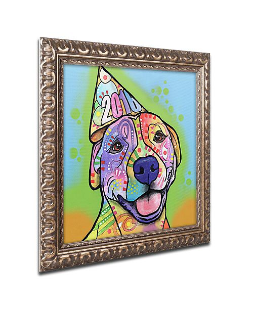 "Trademark Global Dean Russo 'Calendar Roxy' Ornate Framed Art, 16"" x 16"""