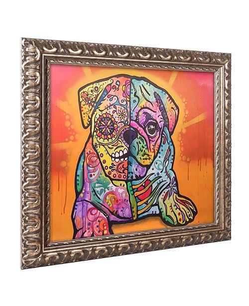 "Trademark Global Dean Russo 'Sugar Pug' Ornate Framed Art, 11"" x 14"""