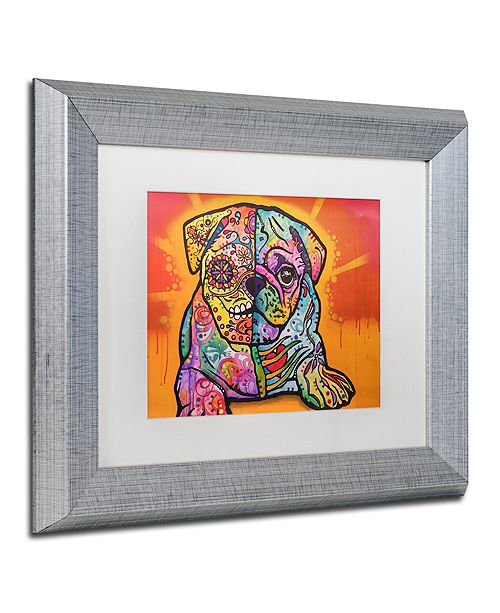 "Trademark Global Dean Russo 'Sugar Pug' Matted Framed Art, 11"" x 14"""