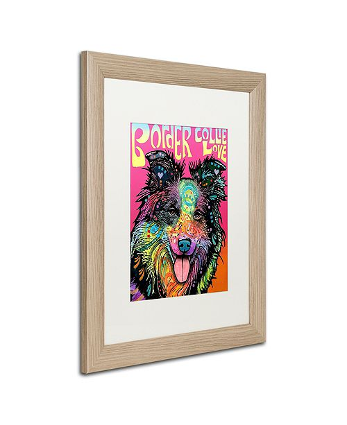 "Trademark Global Dean Russo 'Border Collie Luv' Matted Framed Art, 16"" x 20"""