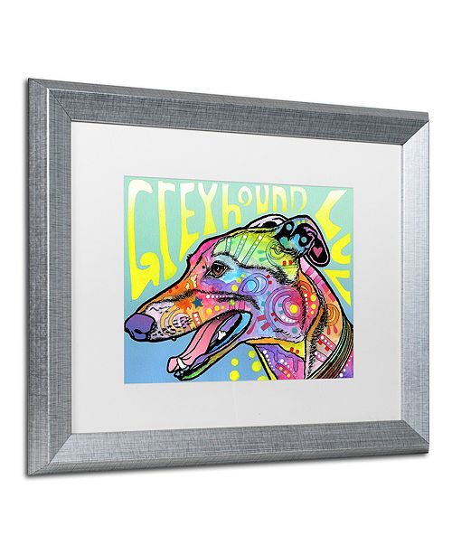 "Trademark Global Dean Russo 'Greyhound Luv' Matted Framed Art, 16"" x 20"""
