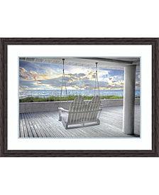 Amanti Art Swing At The Beach Framed Art Print
