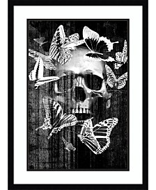 Amanti Art Skull Butterfly Crown  Framed Art Print