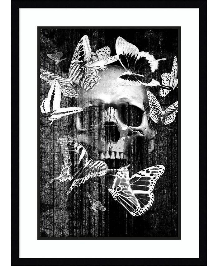 Amanti Art - Skull Butterfly Crown 22x30 Framed Art Print