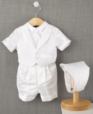 Vintage Style Children's Clothing: Girls, Boys, Baby, Toddler Lauren Madison Baby Boys Cross Dobby Christening Suit $60.00 AT vintagedancer.com