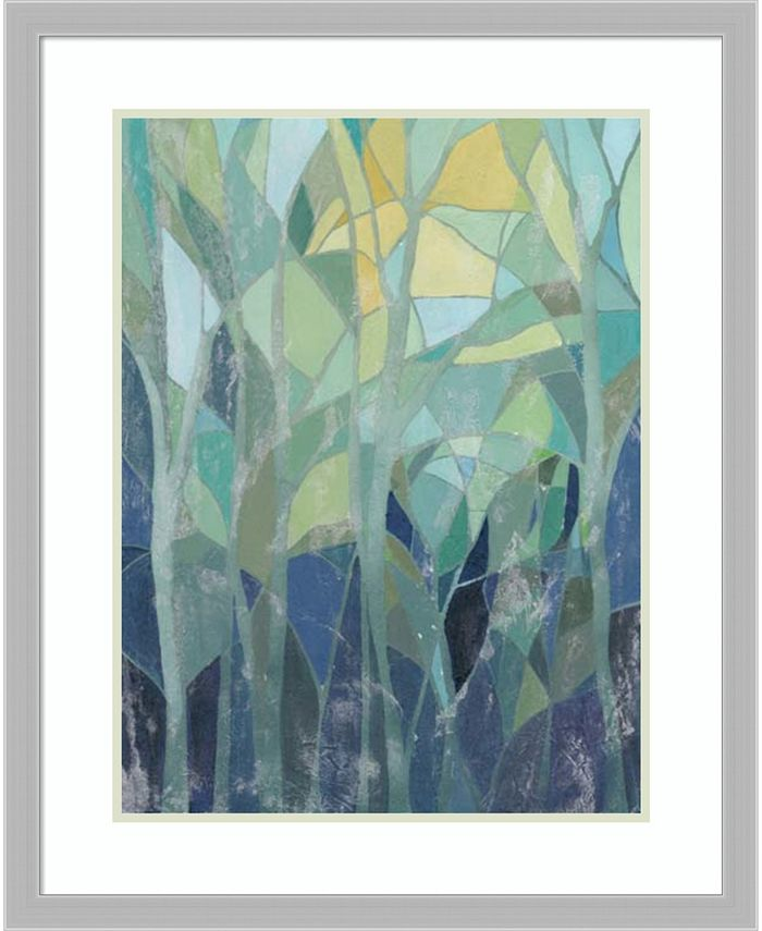 Amanti Art - Stained Glass Forest I 26x32 Framed Art Print