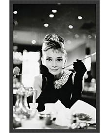 Audrey Hepburn Breakfast at Tiffany's Framed Art Print