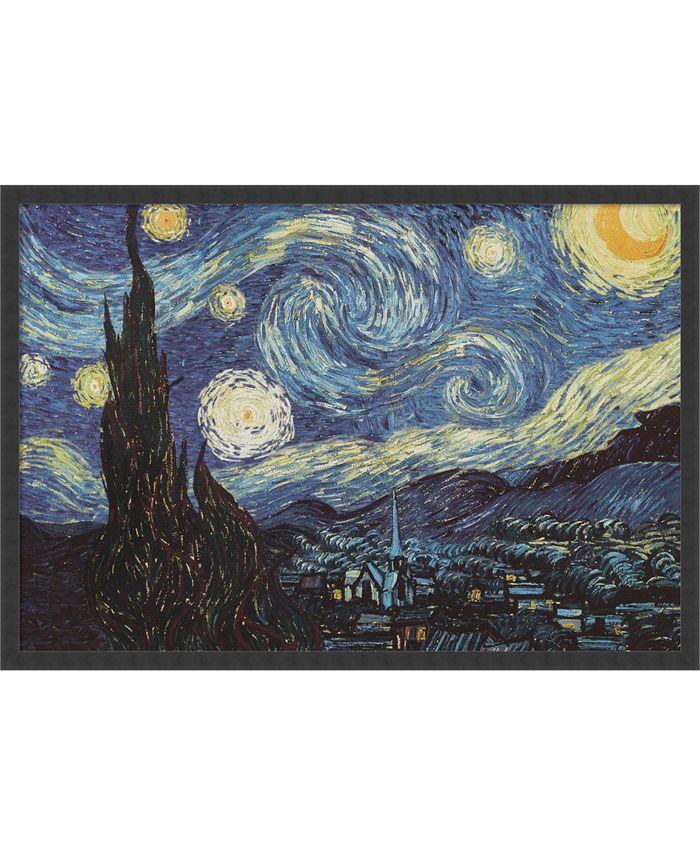Amanti Art - The Starry Night, June 1889 37x25 Framed Art Print