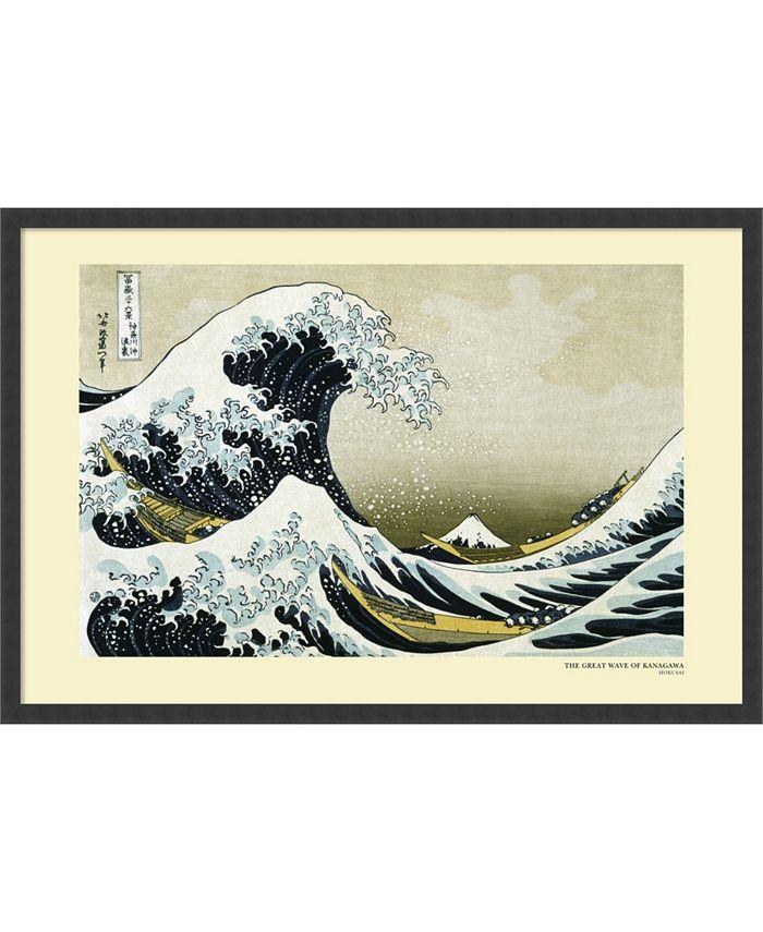 Amanti Art - The Great Wave off the Coast of Kanagawa, 1831 37x25 Framed Art Print
