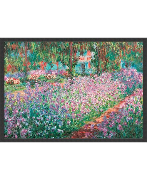 Amanti Art Le Jardin De Monet A Giverny By Claude Monet Framed