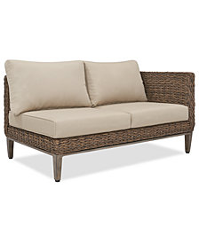 La Palma Outdoor Left-Armed Loveseat Sectional, Created For Macy's