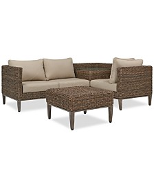 La Palma Outdoor 4-Pc. Sectional Seating Set (1 Right-Arm Loveseat Sectional, 1 Corner Table With Arm, 1 Corner Sectional And 1 Coffee Table), Created For Macy's