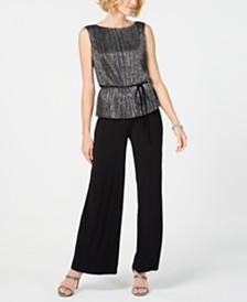 Connected Metallic-Popover Jumpsuit