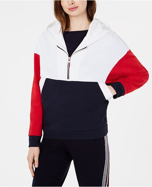 71cb510532b Tommy Hilfiger Colorblock Half-Zip Top, Created for Macy's & Reviews ...