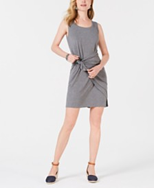Style & Co Petite Knot-Front Knit Tank Dress, Created for Macy's