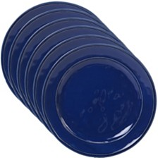 Certified International Orbit Solid Color - Cobalt Blue 6-Pc. Dinner Plate