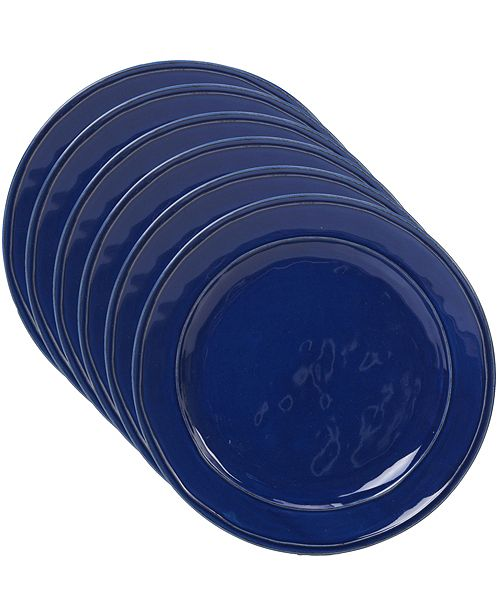 Certified International Orbit Solid Color - Cobalt Blue 6-Pc. Dinner Plate