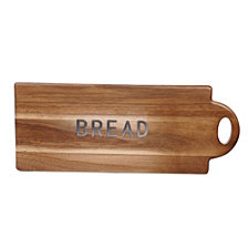 Certified International Acacia Wood Bread Board w/Metal Word