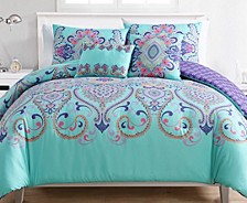 Amherst Reversible 4-Pc. Twin XL Comforter Set
